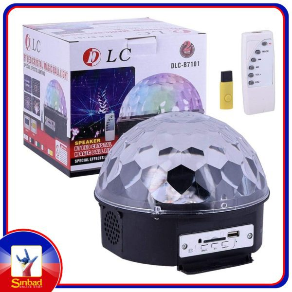 OOFAY LED Music Bluetooth Crystal Magic Ball Light With Mp3 Music Magic Ball Light 9 Color Charging Bluetooth Audio DJ Party Lights