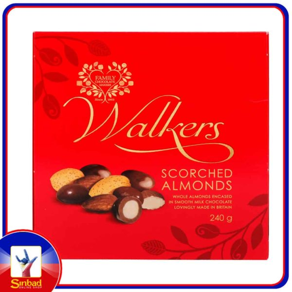 Walkers Scorched Almonds Milk Chocolate 240g