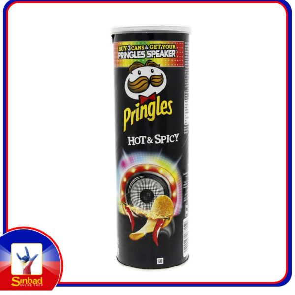Pringles Hot and Spicy Chips 165g
