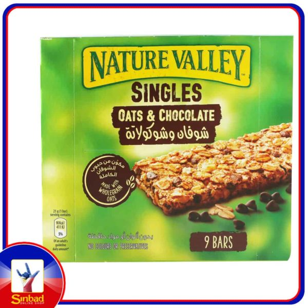 Natural Valley Crunchy Cereal Bars Oats and Chocolate 9 x 21g