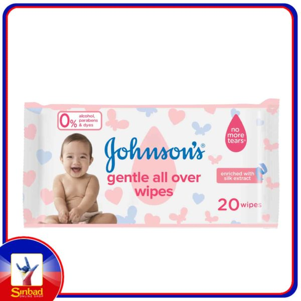 Johnsons Baby Wipes Gentle All Over 20pcs