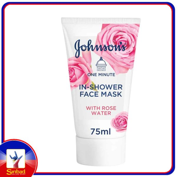 Johnsons Facial Mask 1 Minute In-Shower Face Mask with Rose Water 75ml