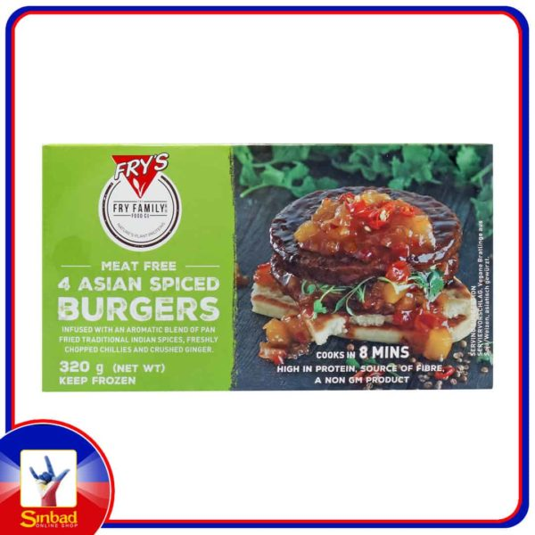 Frys Family Meat Free 4 Asian Spiced Burgers 320g