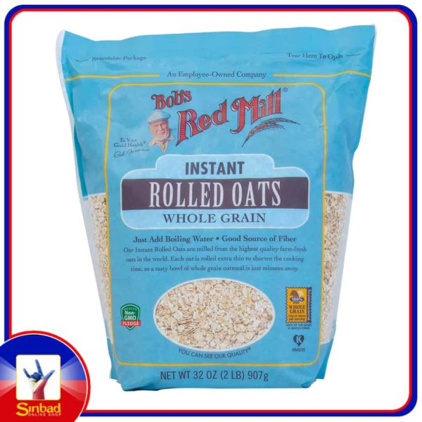 Bobs Red Mill Instant Rolled Oats Whole Grain 907g