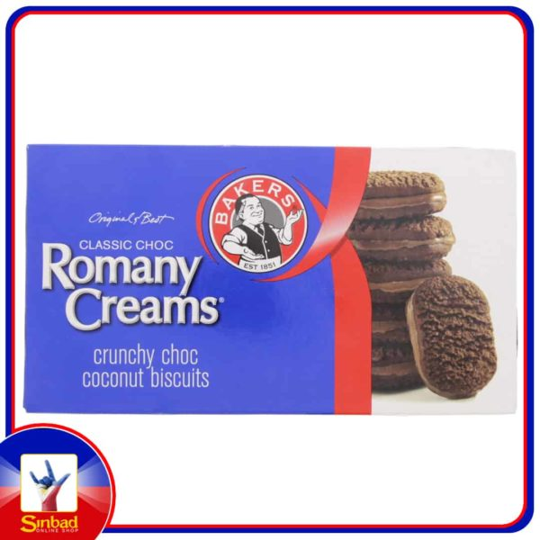 Bakers Romany Creams Crunchy Choc Coconut Biscuits 200g