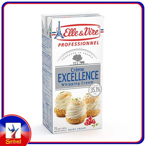 Elle & Vire Excellence Whipping Cream 1Litre