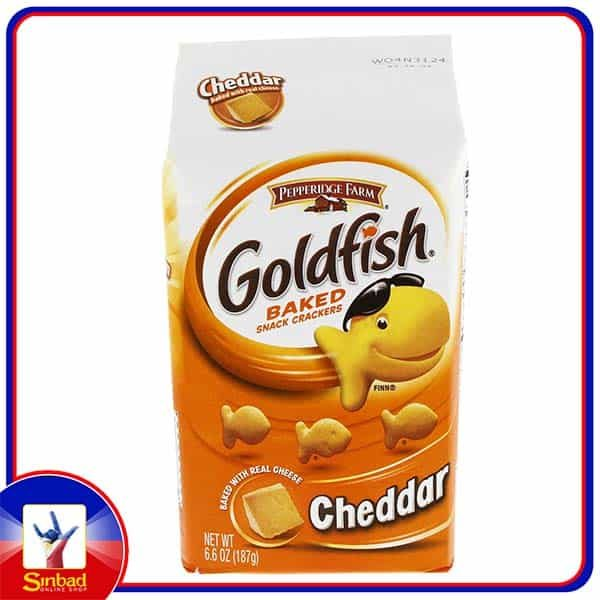 Pepperidge Farm Gold Fish Baked Snack Crackers Cheddar 187g