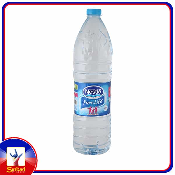 Nestle Pure Life Bottled Drinking Water 1.5Litre x 6 Pieces