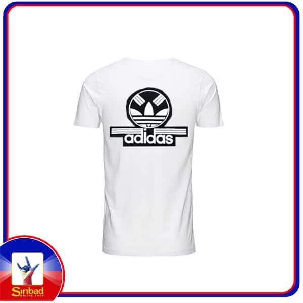 Unisex t-shirt, printed with the adidas logo- white color