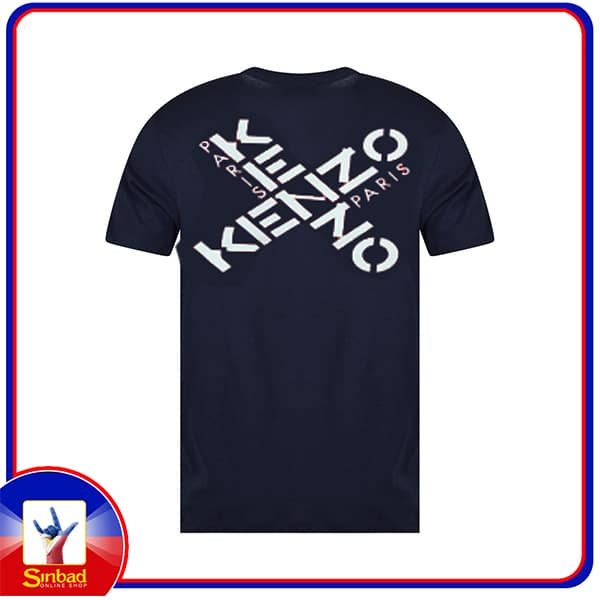 Unisex t-shirt, printed with the kenzo logo- dark blue color