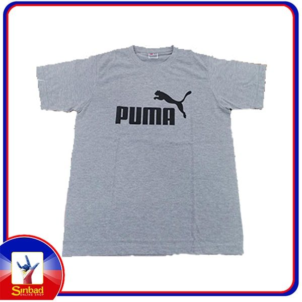 Unisex t-shirt, printed with the puma logo-gray color