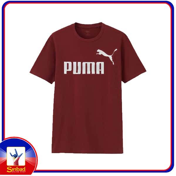 Unisex t-shirt, printed with the puma logo-Burgundy color