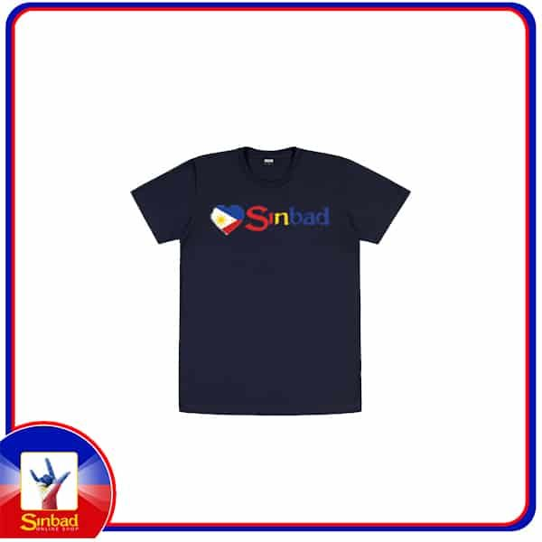 Unisex t-shirt, printed with the Sinbad logo and the Philippine flag -dark color