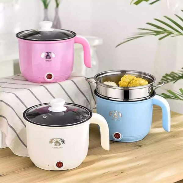 Electric pot 1.8 multi-purpose cook rice, boil, stir fry, warm, stew, steam, size 1.8 liters, complete in one pot.
