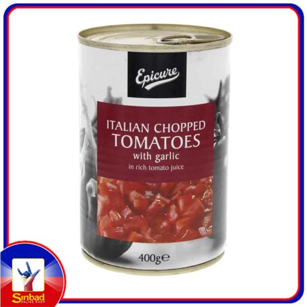 Epicure Italian Chopped Tomatoes With Garlic In Rich Tomato Juice 400g