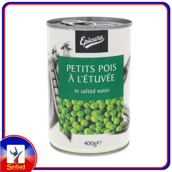 Epicure Petits Pois A LEtuvee In Salted Water 400g