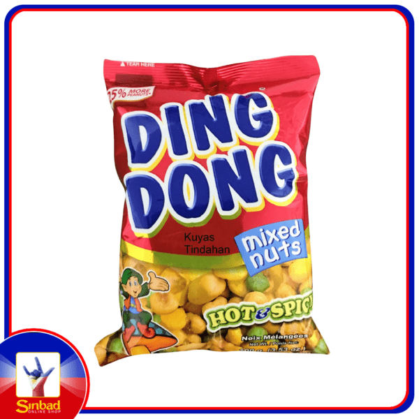 Ding Dong Snack Mixed Nuts Hot And Spicy 100g